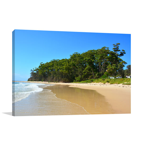 New South Wales Canvas Print Mollymook Beach Artwork Picture