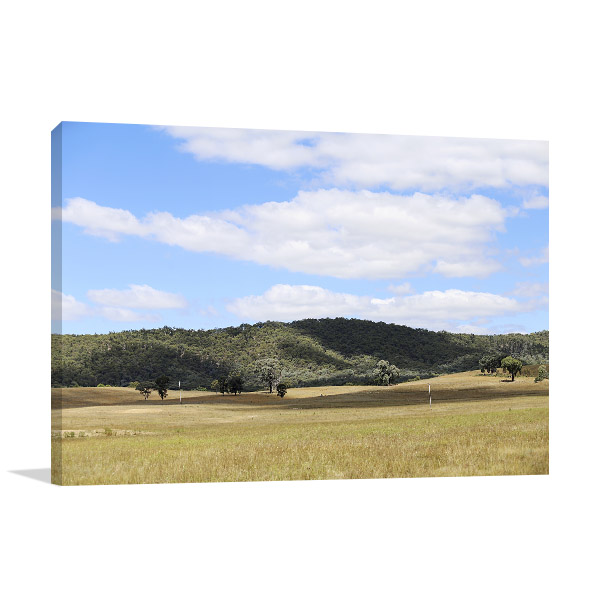 New South Wales Canvas Print Mudgee Rural Picture Artwork
