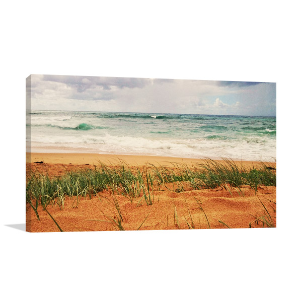 New South Wales Canvas Print Thirroul Seashore Artwork
