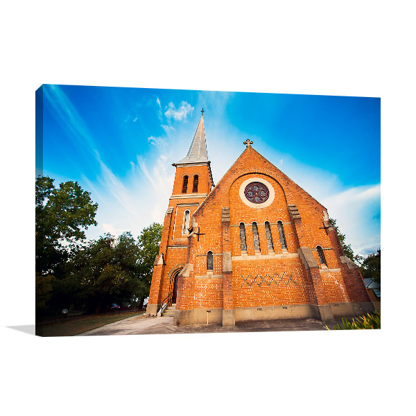 New South Wales Canvas Print Tumut Church Picture Art