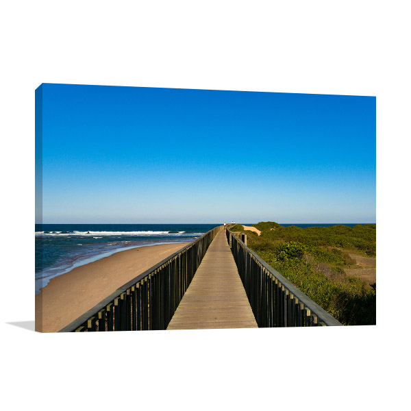 New South Wales Canvas Print Urunga Footpath Wall Picture
