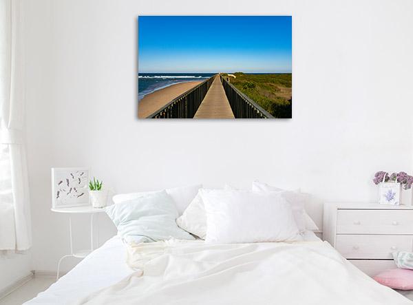New South Wales Canvas Print Urunga Footpath Artwork Photo