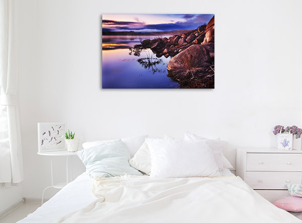 New South Wales Wall Print Jindabyne Lake Picture Canvas