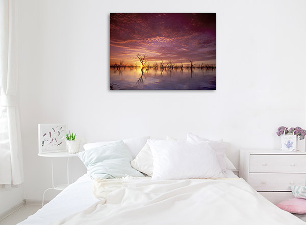 New South Wales Wall Print Menindee Lakes Artwork Picture