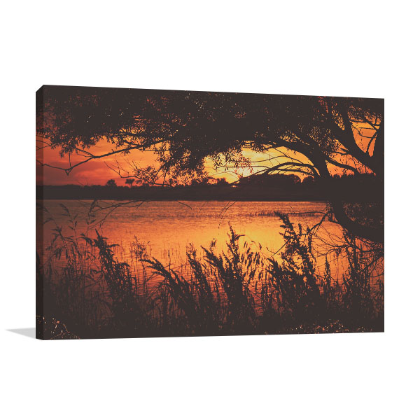 New South Wales Wall Print Uralla Sunset Artwork Canvas