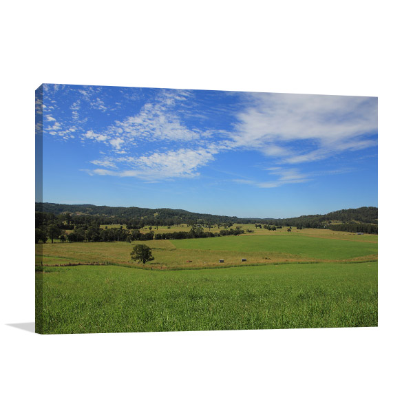 New South Wales Wall Print Wauchope Meadow Picture Artwork