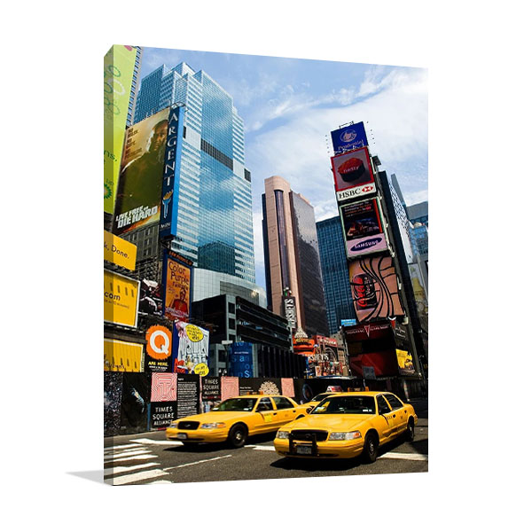 New York  City Cab Print Canvas