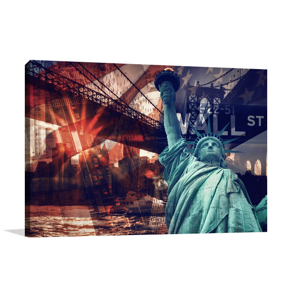 New York Collage Print Artwork