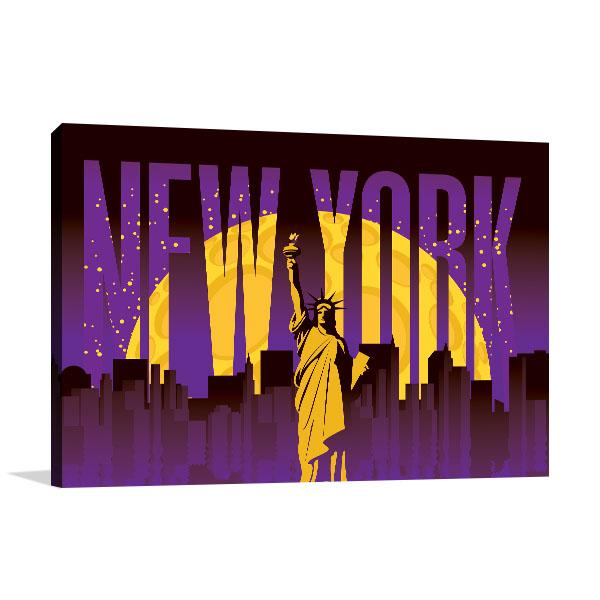 New York Illustration Canvas Art Prints