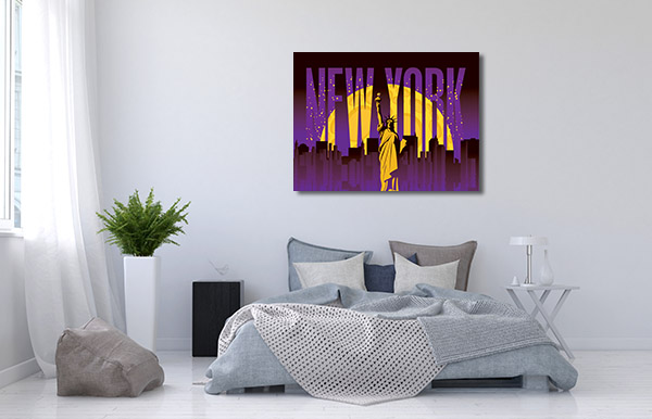 New York Illustration Prints Canvas