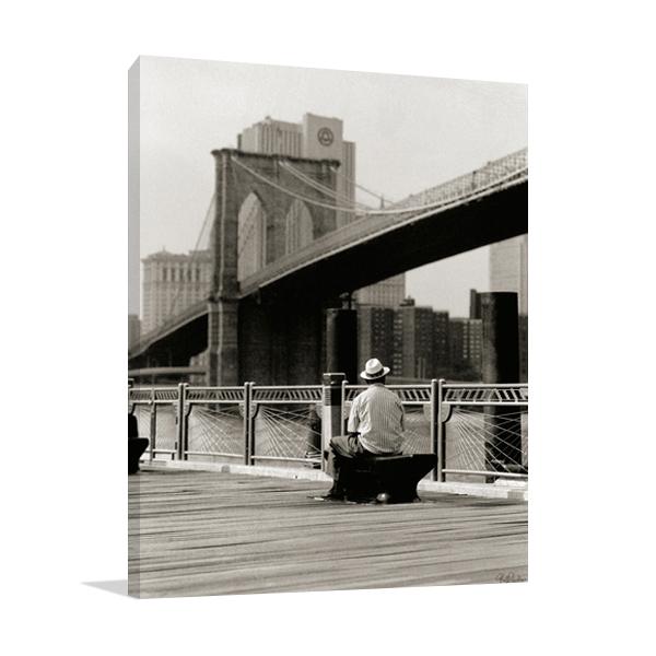 New York Man at the Brooklyn II Wall Art Print