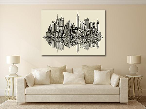 New York Sketch Print Artwork