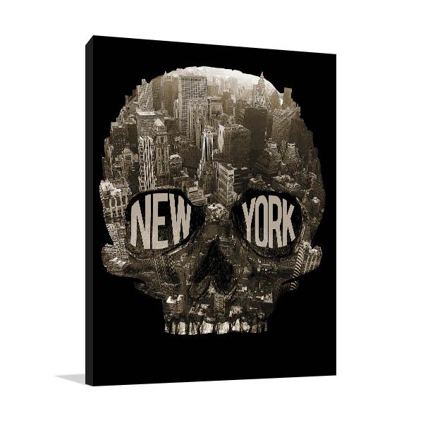New York Skull Art Prints