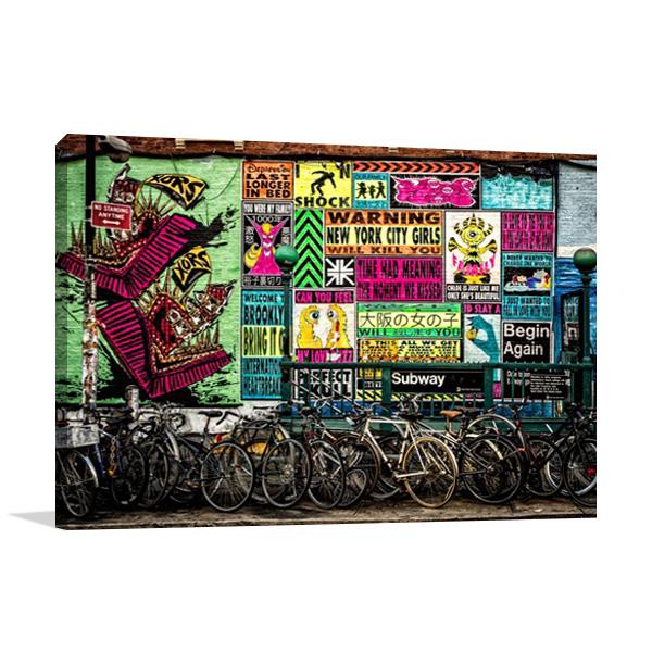 New York Street Art Print on Canvas