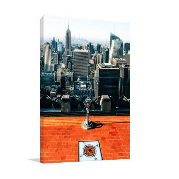 New York the View Wall Art Print