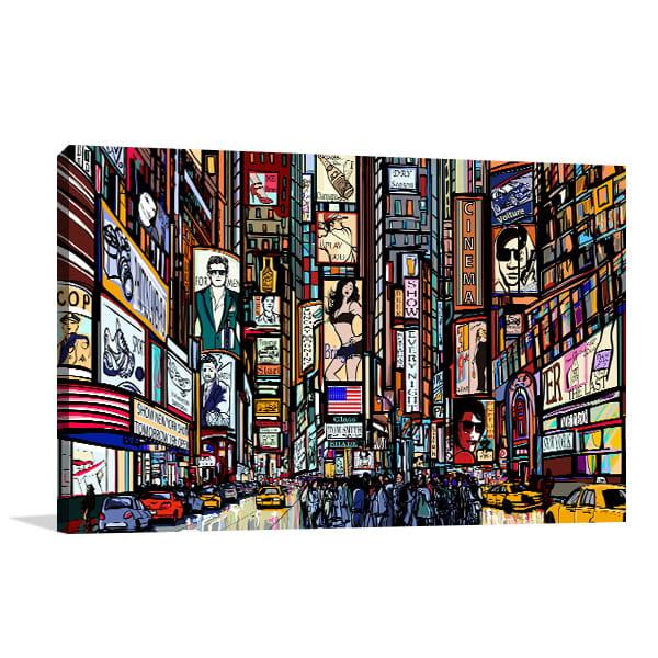 New York Traffic Canvas Prints
