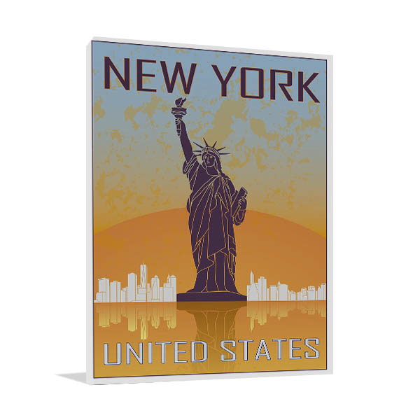 New York Vintage Poster Prints Canvas