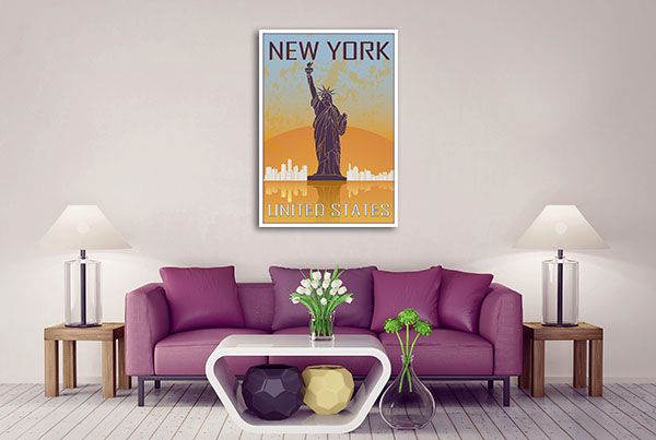 New York Vintage Poster Canvas Art Prints