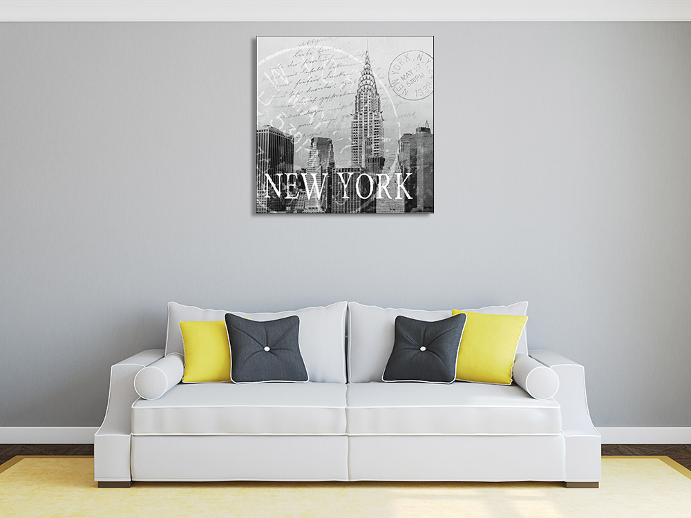 Black and White Square Wall Print
