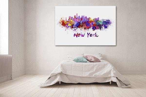New York Watercolour Print Artwork