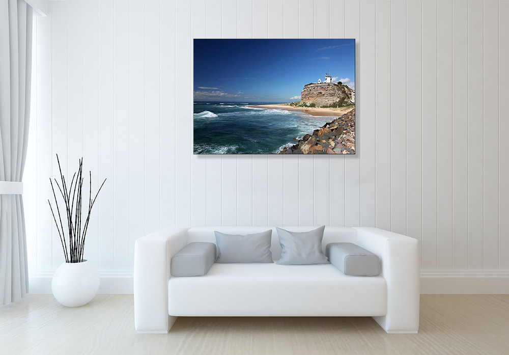 Print on Canvas Beach Newcastle Australia