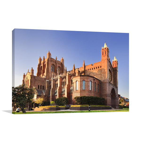 Newcastle Canvas Print Cathedral Wall Photo