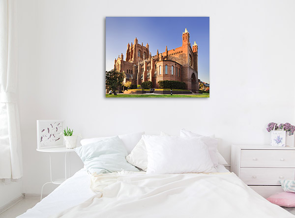 Newcastle Canvas Print Cathedral Wall Picture