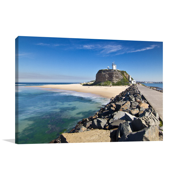 Newcastle Wall Art Print Nobbys Head Lighthouse Picture Artwork