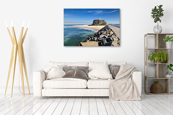 Newcastle Wall Art Print Nobbys Head Lighthouse Canvas Photo