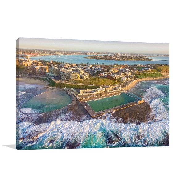 Newcastle Wall Print Ocean Baths Aerial Art Picture