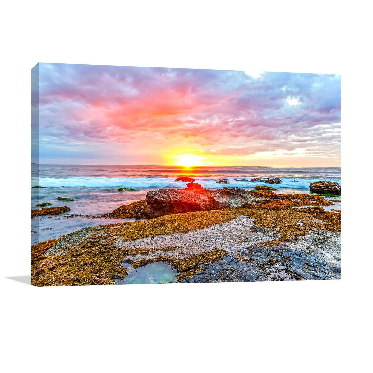 Newport Beach Art Print Sunrise Seascape