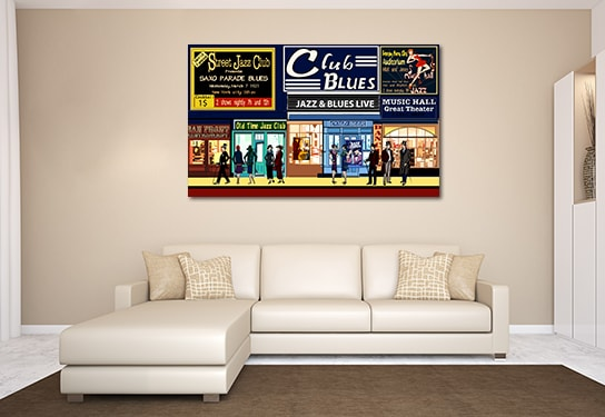 New York City Nightlife Print Artwork