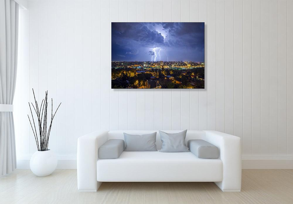 Skyline Night Photography on Canvas