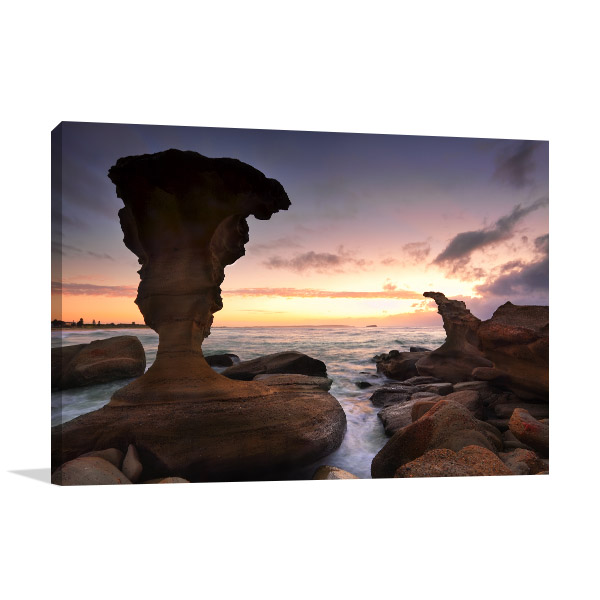 Noraville Canvas Print Rock Formations NSW Picture Artwork