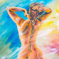 Hand Painted Nude Oil Paintings on Canvas