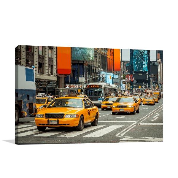 NYC Cabs Canvas Art Prints