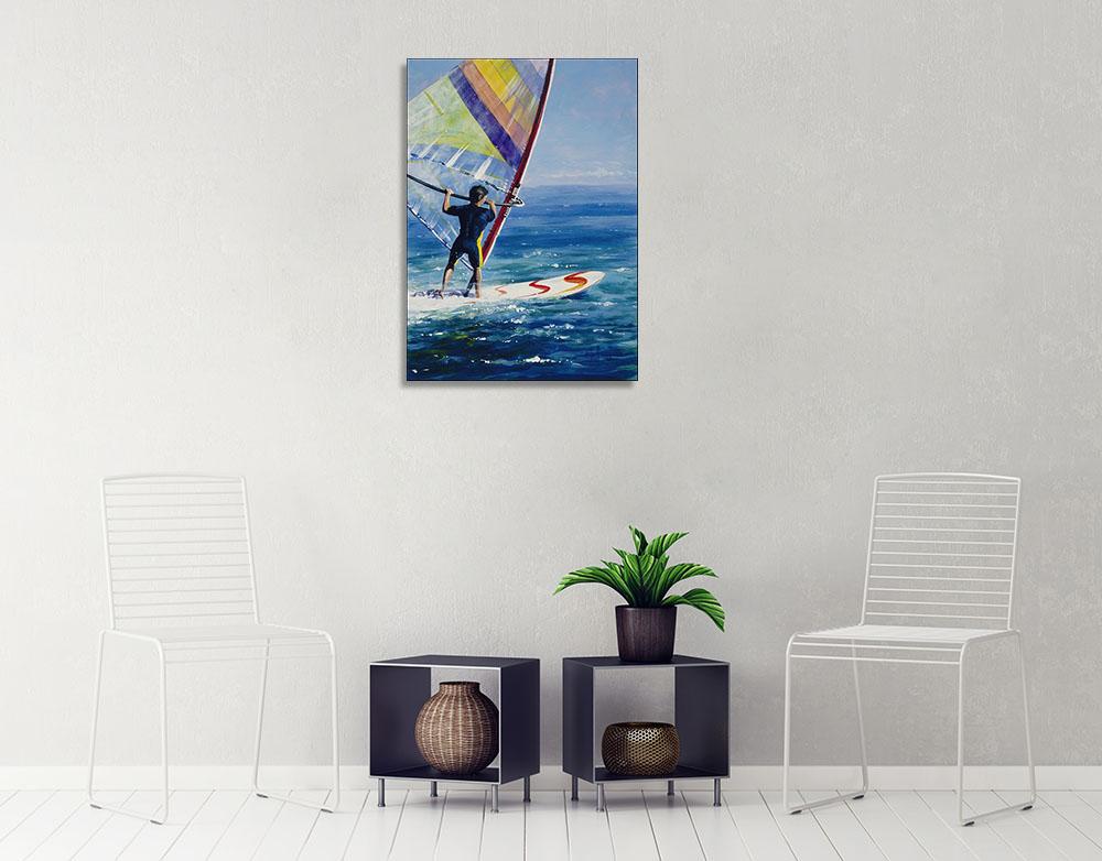 Blue Water Canvas Print Art