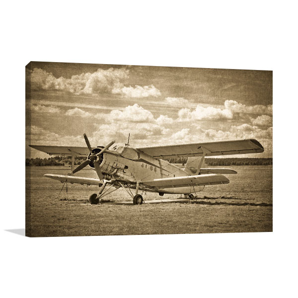 Old Aircraft Canvas Art
