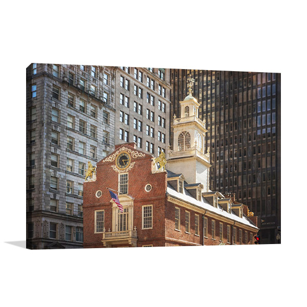 Old and New Architecture Boston Wall Art Print