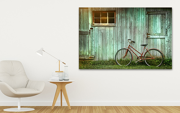 Old Bicycle Art Print on the wall