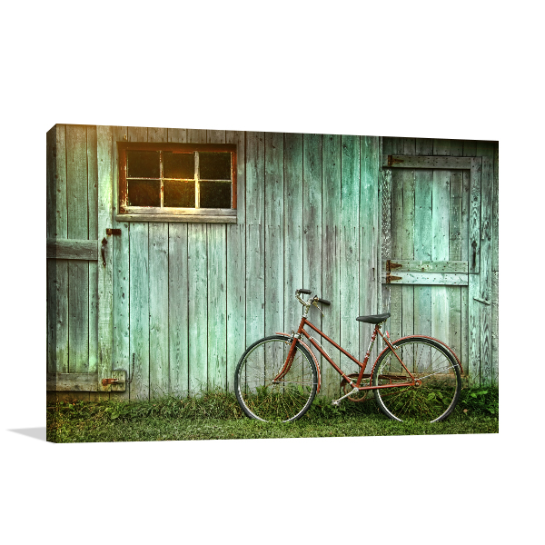 Old Bicycle Canvas Art