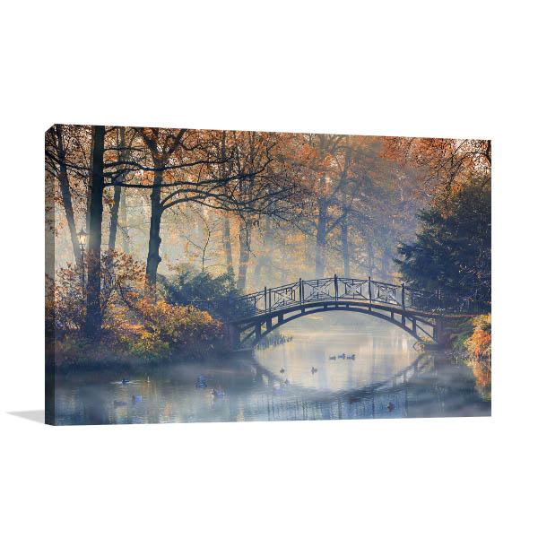 Old Bridge In Autumn Prints Canvas