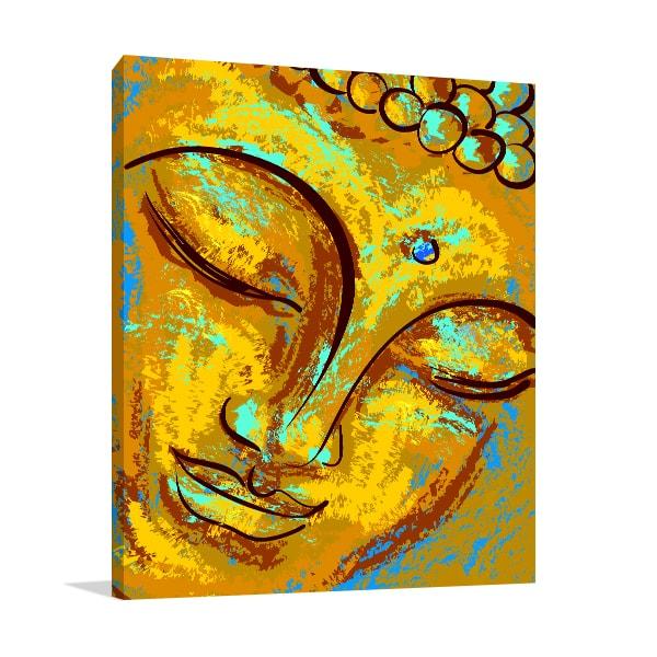 Old Buddha Canvas Artwork
