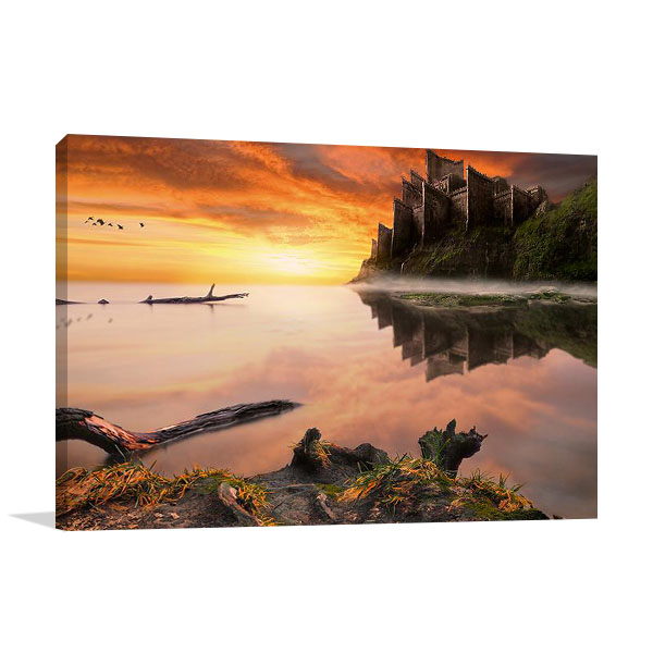 Old Castle Wall Print on Canvas