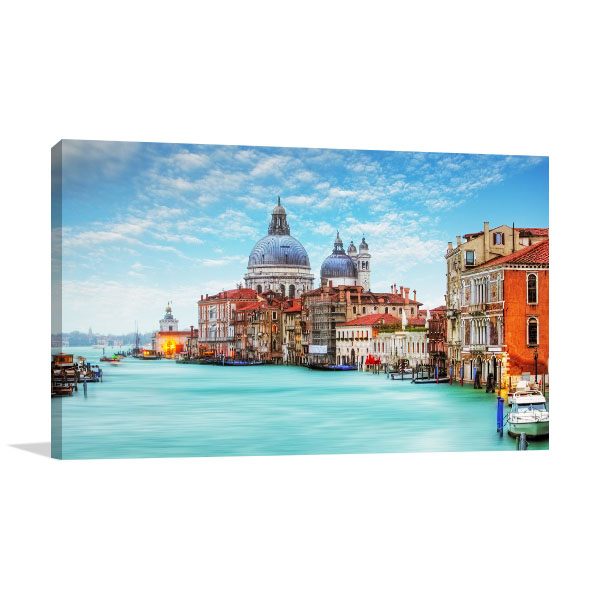Old Cathedral Sunny Day Canvas Art Prints