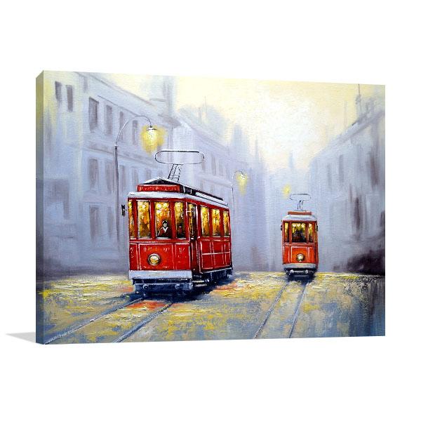 Old City Tram Canvas Prints
