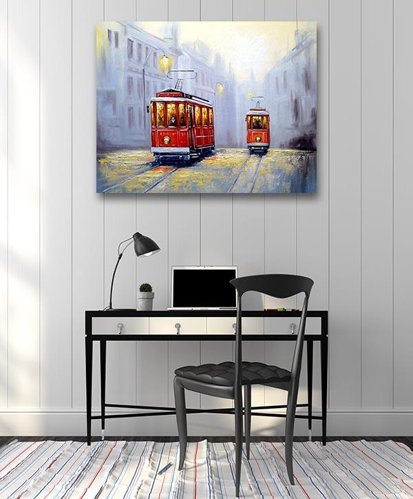 Old City Tram Artwork