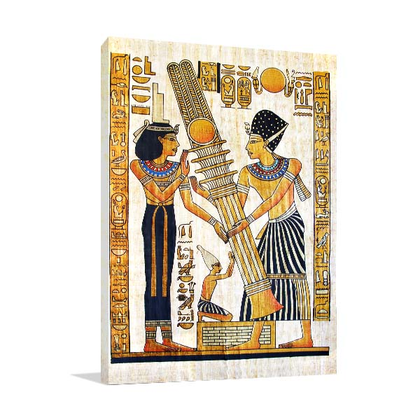 Old Egyptian Papyrus Prints Canvas
