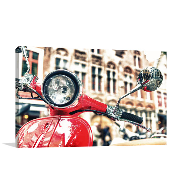 Old Fashion Scooter Prints Canvas