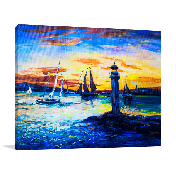 Old Lighthouse Prints Canvas